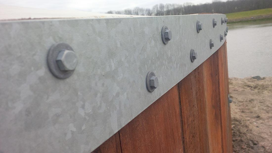 Damwanden glasgroen - Scheiding houten ...