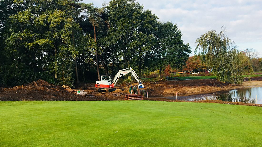 Golfbaan renovatie en waterpartijen