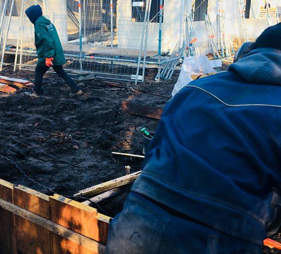 Veilig werken bij een project op een klein oppervlak