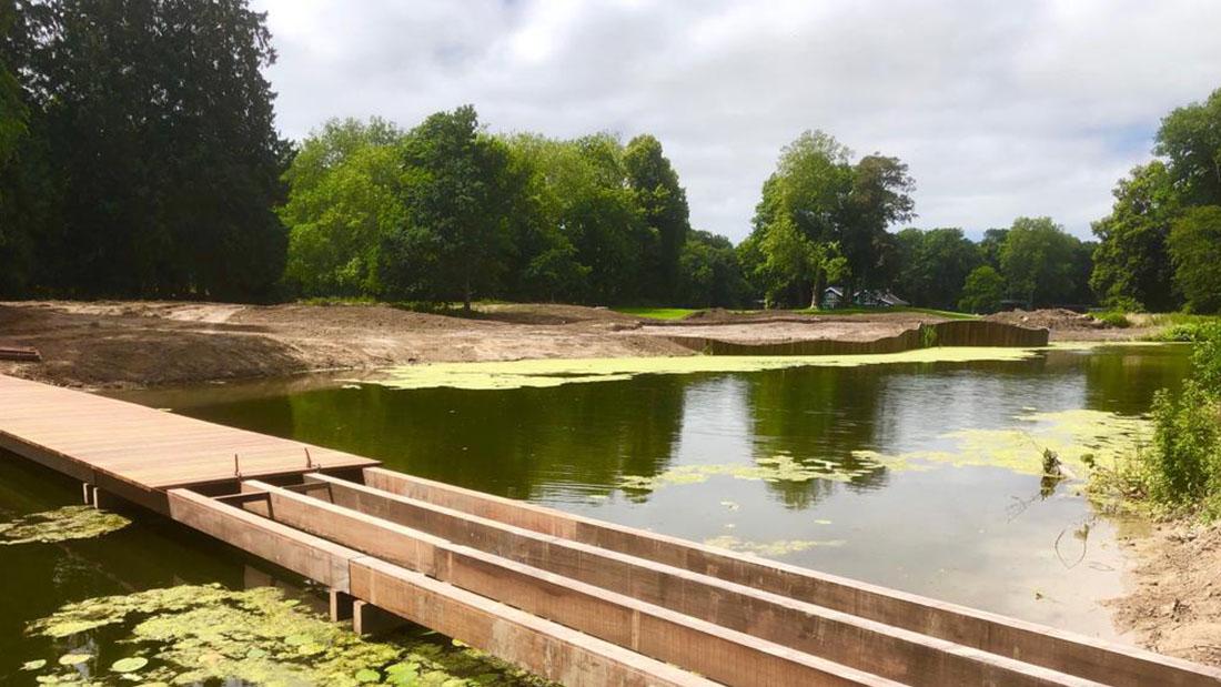 Bruggen en damwanden voor golfbanen